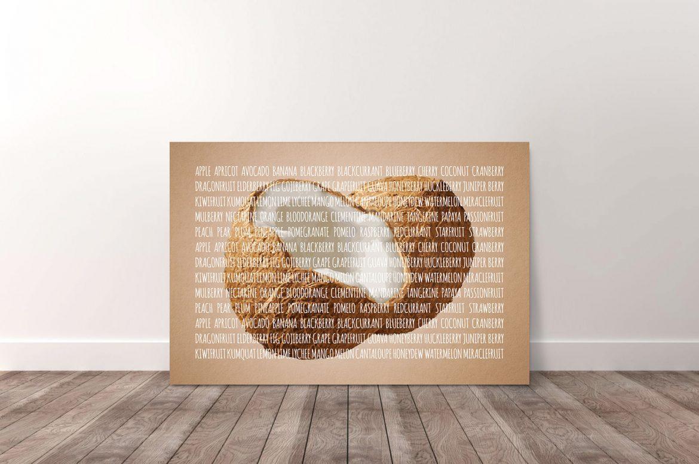 Kokosnoot in kleur