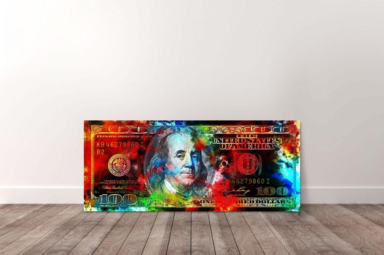 100 Dollar in kleur