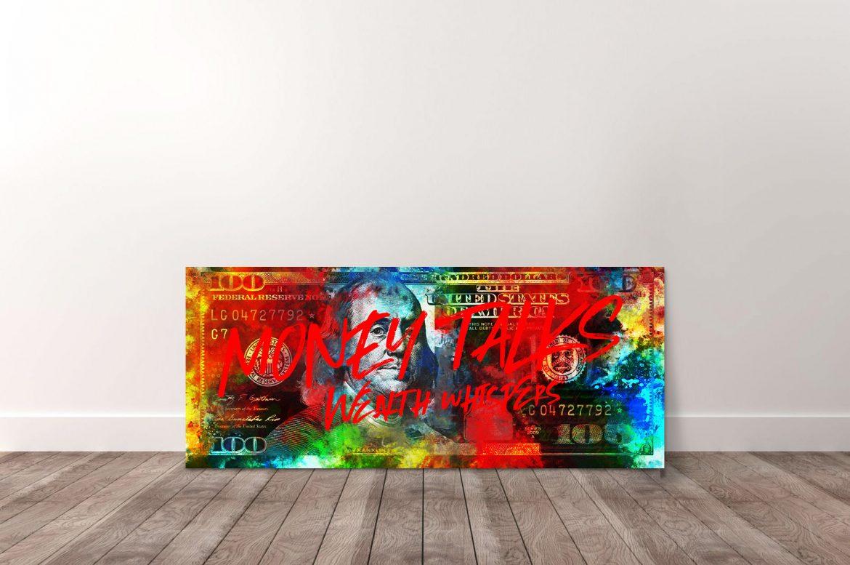 Benjamin Franklin - Money Talks, Wealth Whispers in kleur